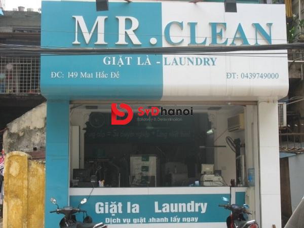 Mẫu biển quảng cáo giặt là