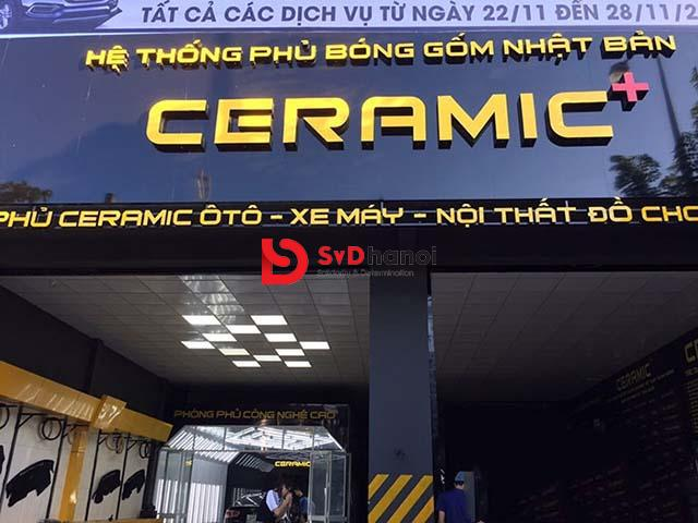 Mẫu biển quảng cáo gara nội thất ô tô